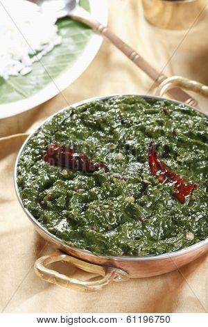 Tamil Spinach Keerai - A Dish From Tamilnadu