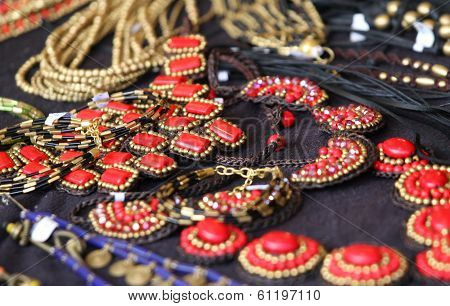 Red Jewelry In Style And In Vintage Style For Women And Girls