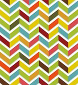 stock photo of chevron  - Abstract seamless with colorful chevron on white background - JPG