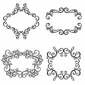 Vector Decorative Ornamental Frame for Text