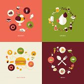 pic of sweet food  - Icons for dessert - JPG