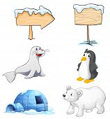foto of north-pole  - Illustration of the signboards - JPG