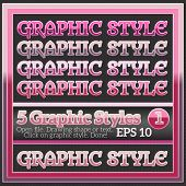Set Of Colorful Glossy Graphic Styles For Various Design.