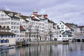 pic of zurich  - Old buildings in the city center of Zurich Switzerland - JPG