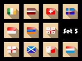 stock photo of armenia  - Flag icons of Ireland - JPG