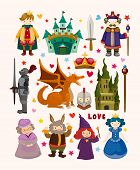 foto of woman dragon  - set of fairy tale element icons - JPG