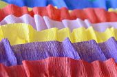 stock photo of crepes  - Rainbow crepe streamers decoration for St - JPG