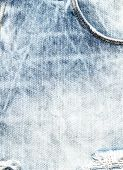 Bright Blue Jeans Texture Or Textile Background  Close Up