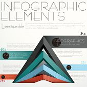 picture of pyramid  - flat design vector abstract pyramid infographic elements - JPG