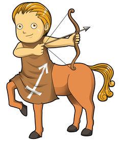 stock photo of sagittarius  - Cartoon style illustration of zodiac symbol - JPG