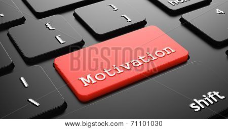 Motivation on Red Keyboard Button.
