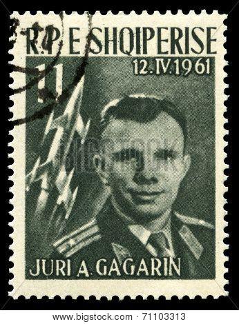 Yuri Gagarin Vintage Postage Stamp