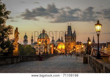 view on the Prague ,Charles bridge, Karluv Most