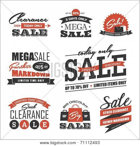 Set of sale icon/symbol and design elements