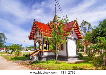 BANG MUANG, THAILAND - 15 NOV 2012: Wat Rat Niramit Temple in Bang Muang town. This Buddhism temple is a tourist attraction in Phang Nga province, Thailand.