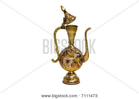Antique Gold Oil Bottle