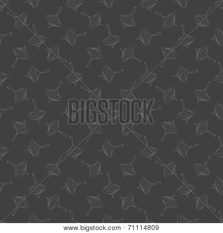whirligig web icon. flat design. Seamless gray pattern.