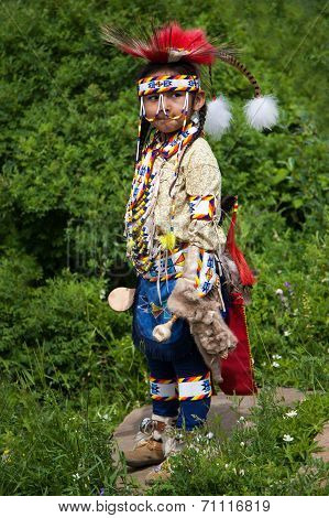 Young Blackfoot Indian Dancer