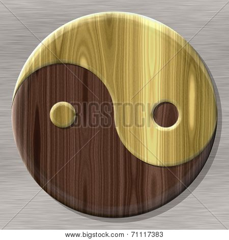 Yin-yang Symbol With Seamless Generated Texture