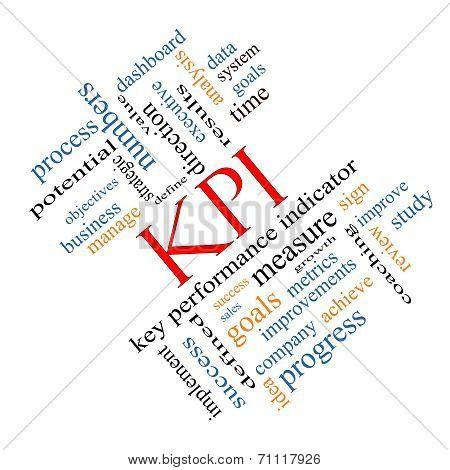 Kpi Word Cloud Concept Angled