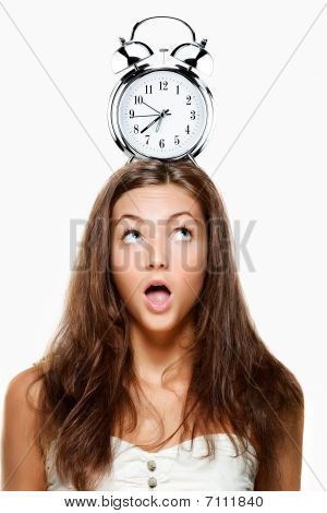 Woman With Clock On Head