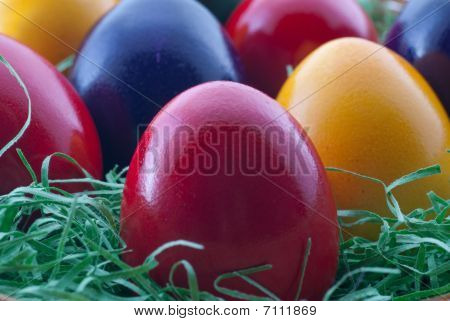 Closeup Easter Eggs