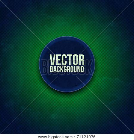 Round modern sticker on green background. Vector illustration