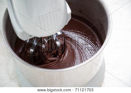 Mixing Chocolate Dough
