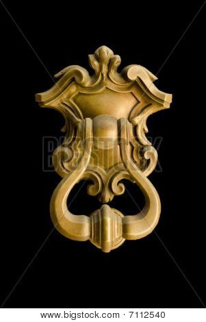 Door knocker isolate in a black background