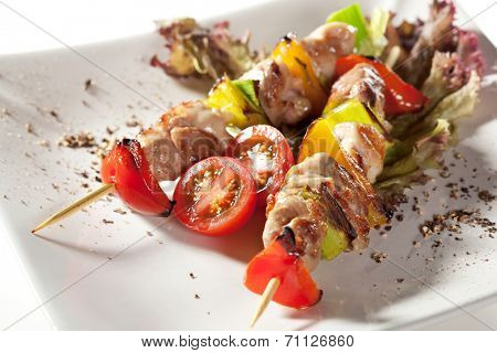 Japanese Skewered Chicken with Vegetables