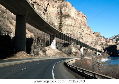 Interstate 70 near Glenwood Springs