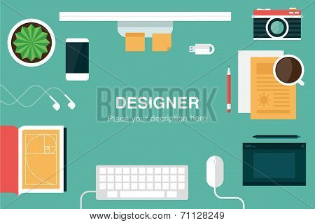 designer desk header