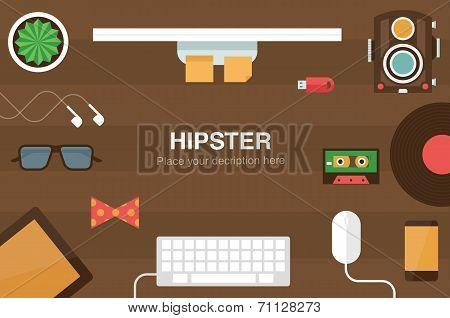 hipster desk header