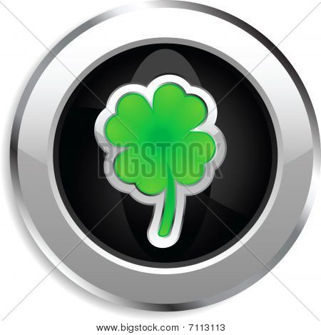 Four leaf clover web button