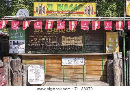 Specialty Seafood Kiosk In Boqueron, Puerto Rico