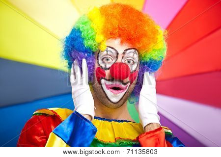 Scared clown portrait
