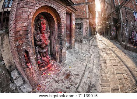 Hindu Goddess In Kathmandu