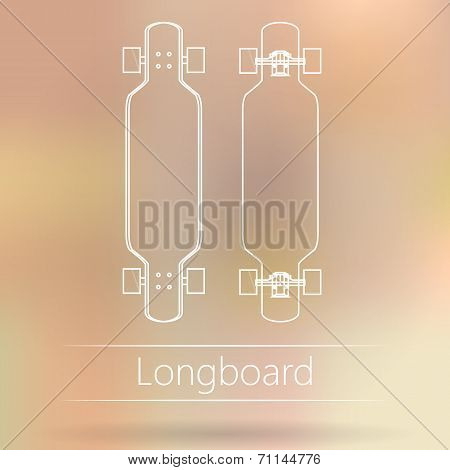 Contour ad layout for longboard