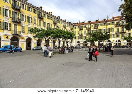 Baroque Architecture At Place Garibaldi, Nice
