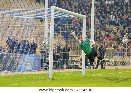 Goalkeeper missed a goal