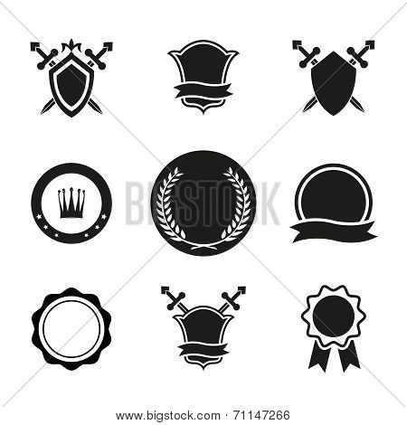 Vector Shields  Crowns and Emblems