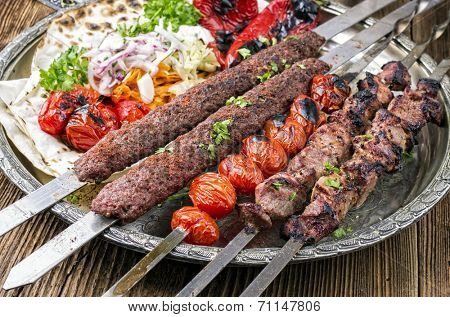 grilled koobideh with kebab