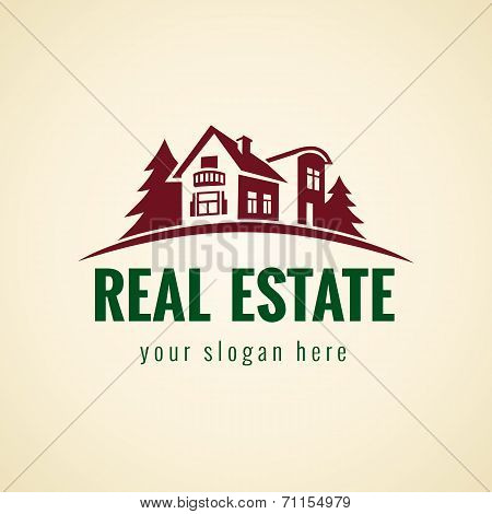 Real estate logo forest