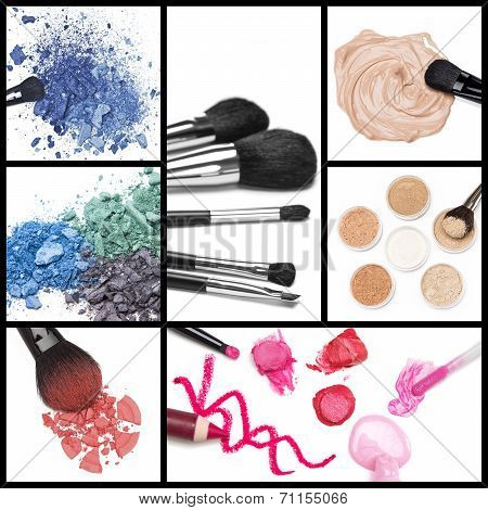 Collection Of Makeup Cosmetics
