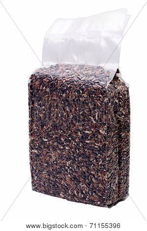 Unpolished Rice In Vacuum Packaging