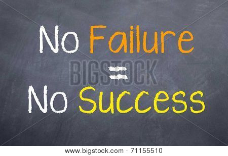 No Failure = No Success