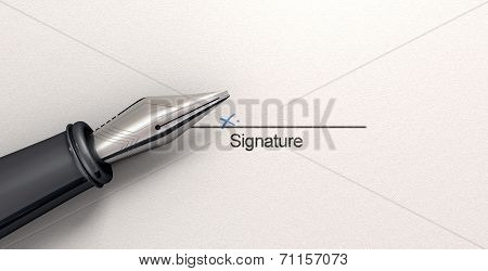 Signature X And Fountain Pen