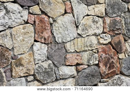 Stonewall Of Virgin Stones, Natural Background