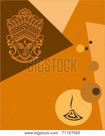 Goddess Durga Festival Background