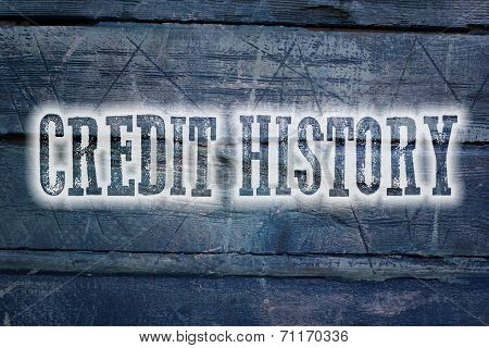 Credit History Concept